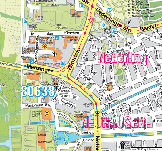 80638 Neuhausen Nymphenburg